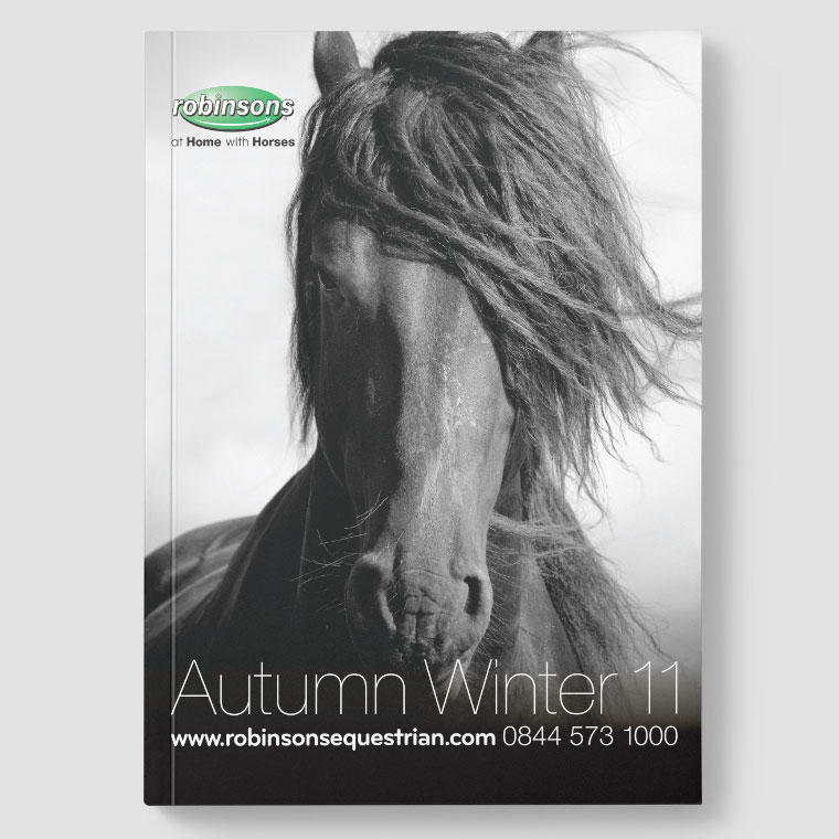 Robinsons Equestrian:  Catalogue Design