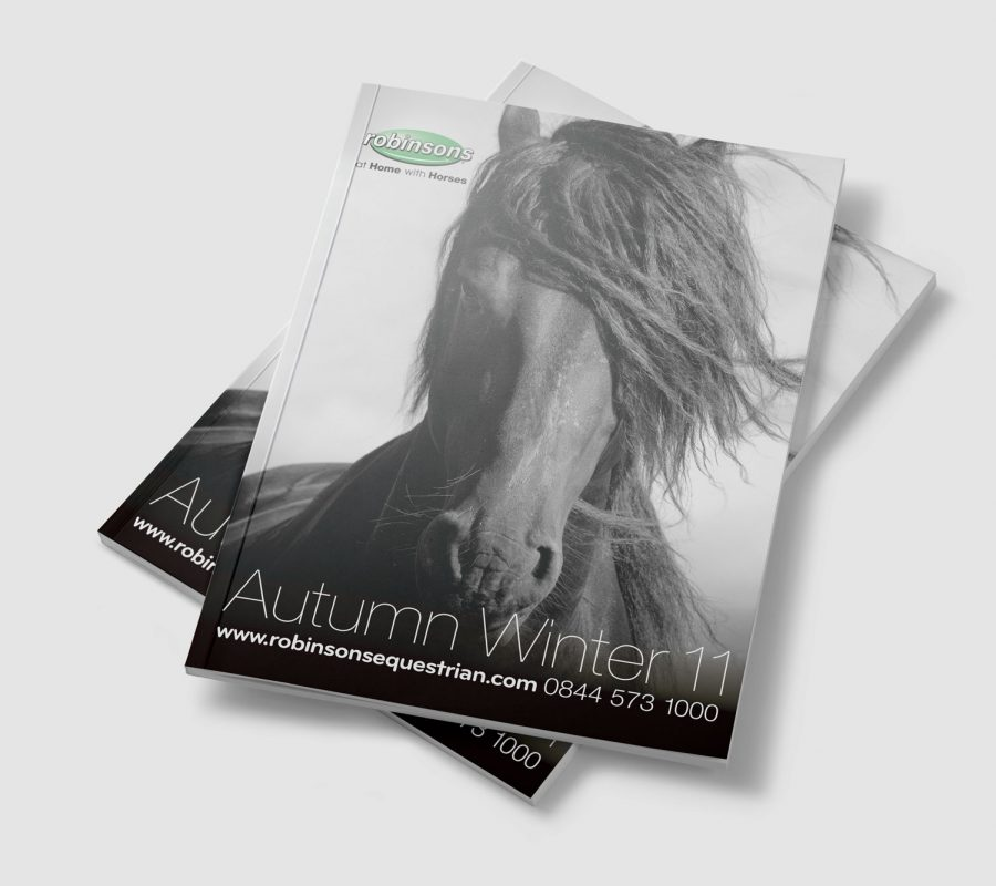 Robinsons Equestrian Catalogue Cover Design