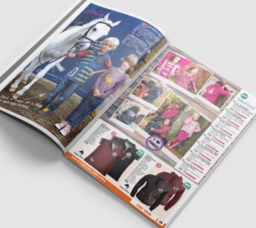 Robinsons Equestrian Catalogue Design