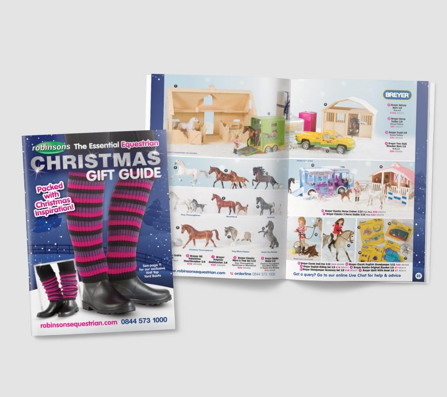Robinsons Equestrian Christmas Catalogue Design