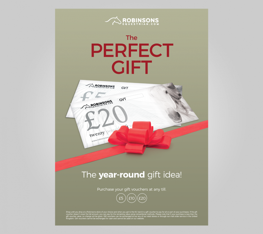 Robinsons Equestrian Marketing Design Gift Voucher Poster