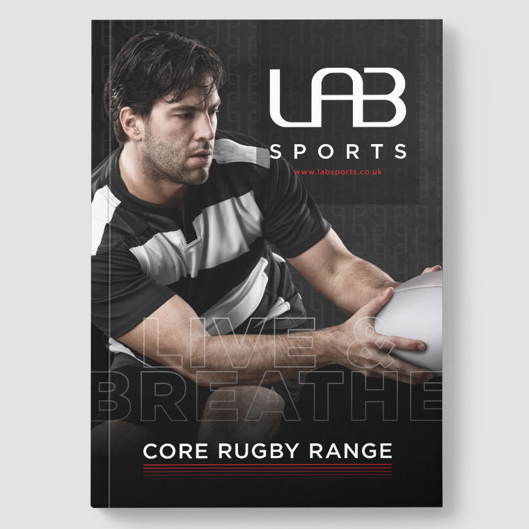 LAB Sports: Rugby Range Brochure Design