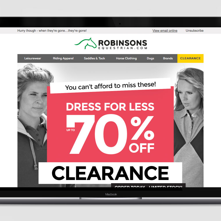 Robinsons Equestrian: Email Campaigns